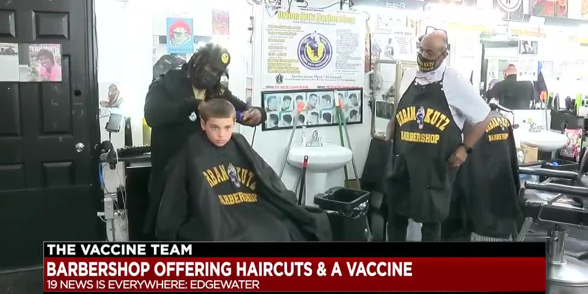 Edgewater barbershop offers haircuts and COVID-19 vaccine