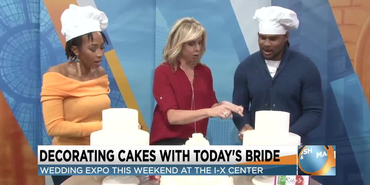 Cake decorating with the Cribbs and a sneak peek at the Today's Bride bridal show