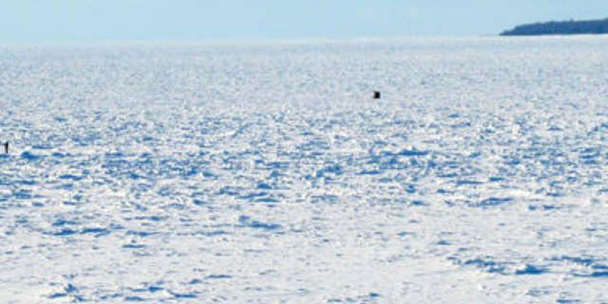 Coast Guard rescue after snowmobile escapade on Lake Erie