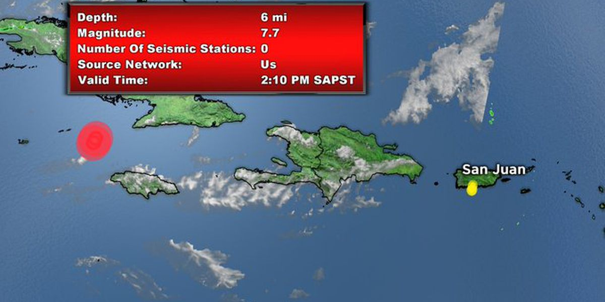 Major earthquake off coast of Jamaica prompts tsunami warnings, evacuations