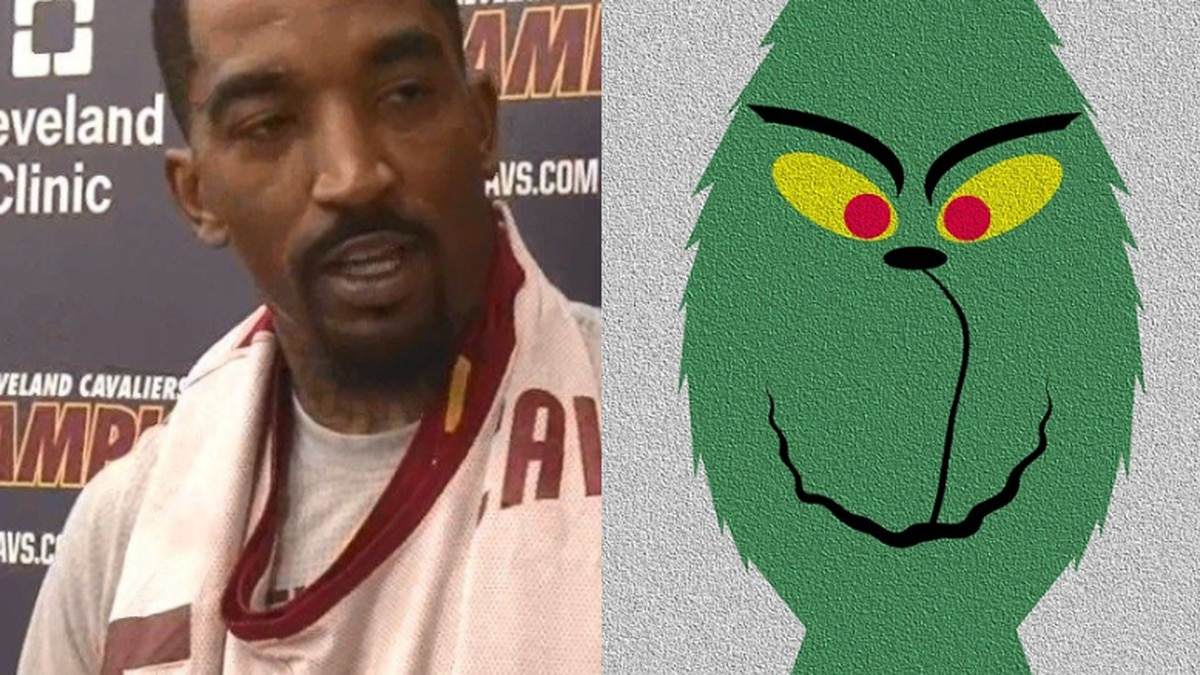 The Grinch annoys J.R. Smith about his NBA Finals mistake