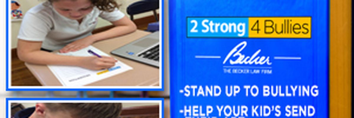 2Strong4Bullies Book Contest ~ We need 7th & 8th grade students to Help Stop Bullying!