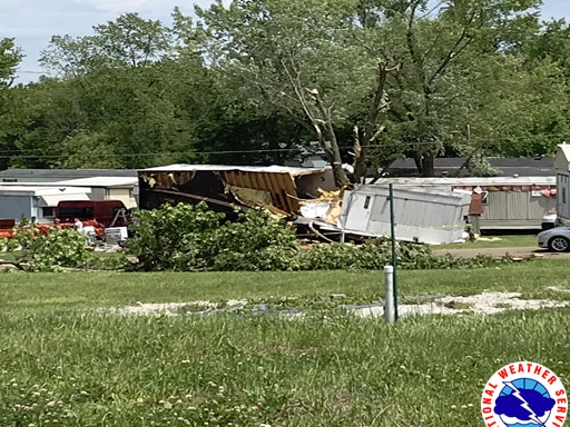 Confirmed EF1 tornado swept through Carroll County during Saturday's storm