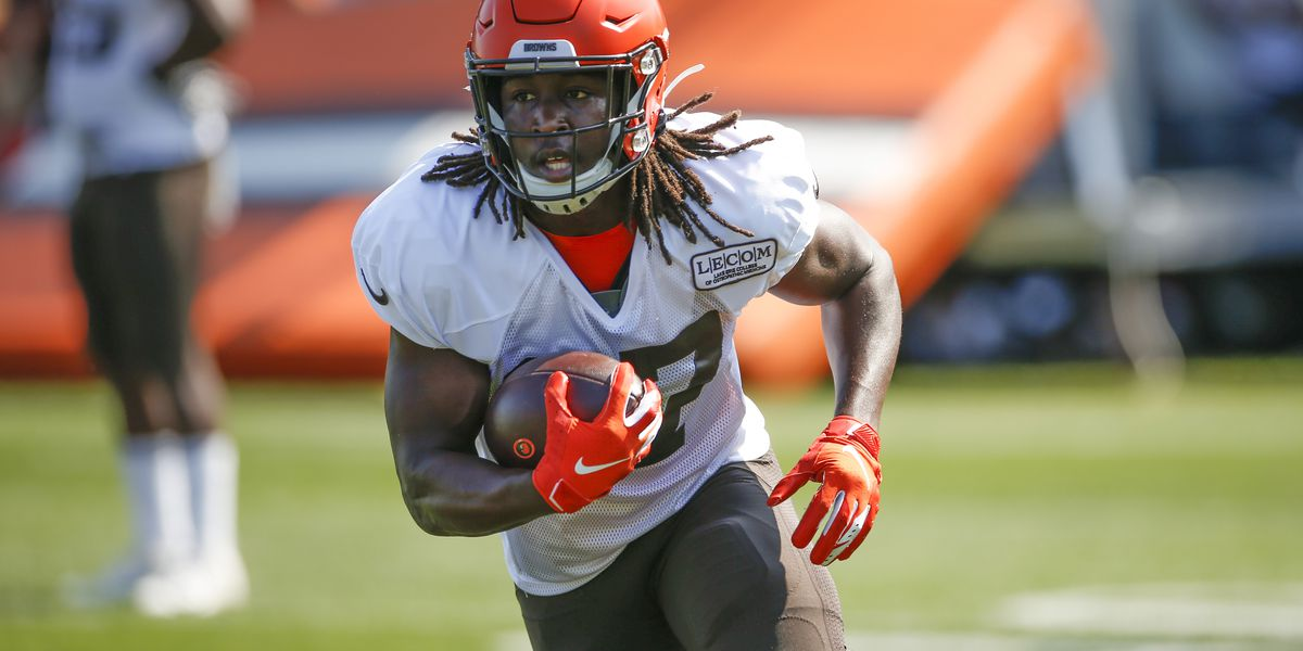 Cleveland Browns running back Kareem Hunt is eligible to return from 8-game suspension on Sunday