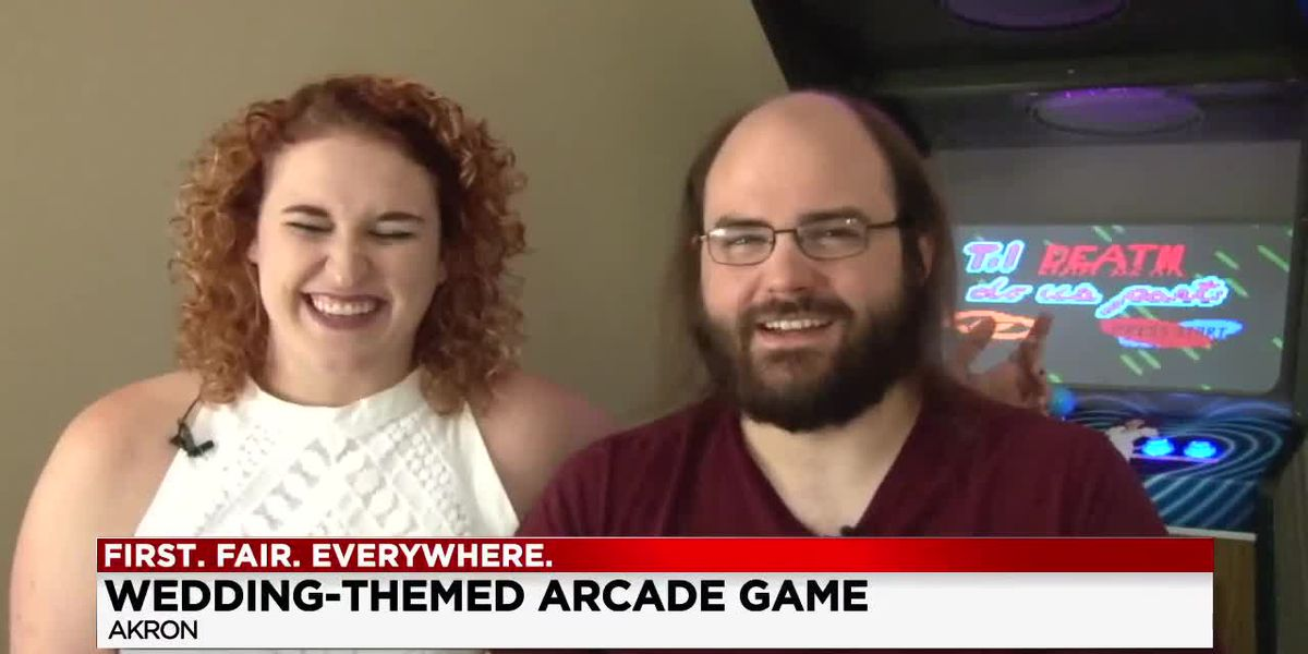 Akron newly weds design arcade game for wedding ceremony