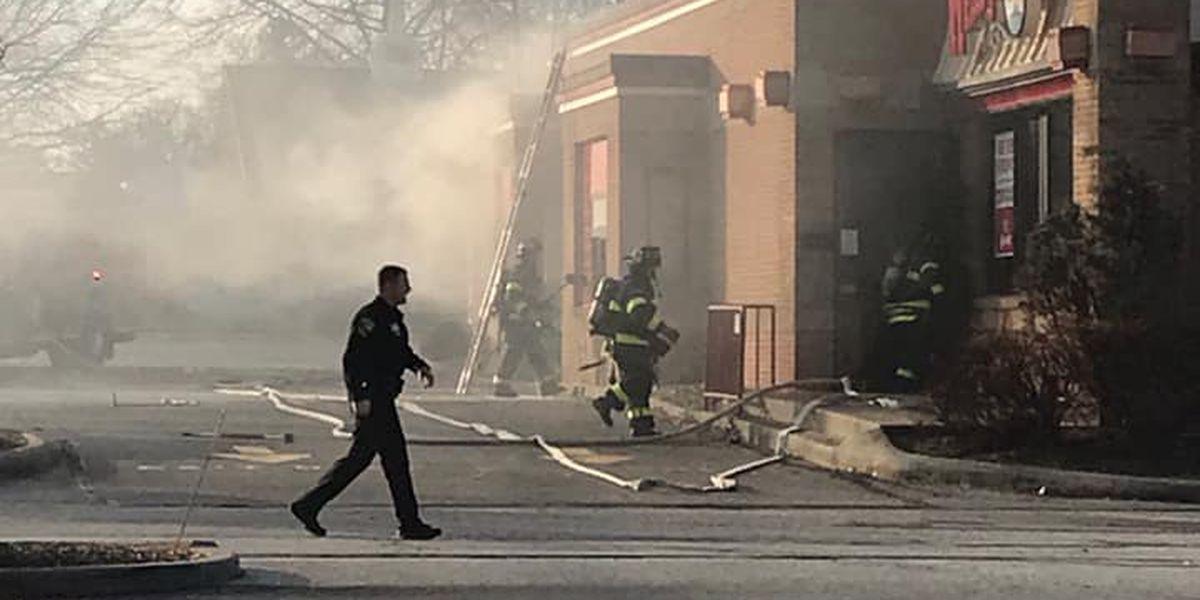 parma fire department battles blaze at wendy s