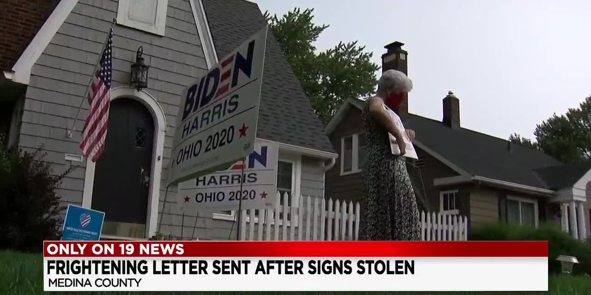 Political sign stealing reaches new disturbing level in Medina
