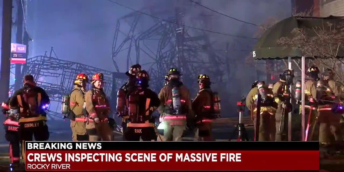 Rocky River Fire Department: Fire under control, but working on 'jump fire' in neighboring building to west