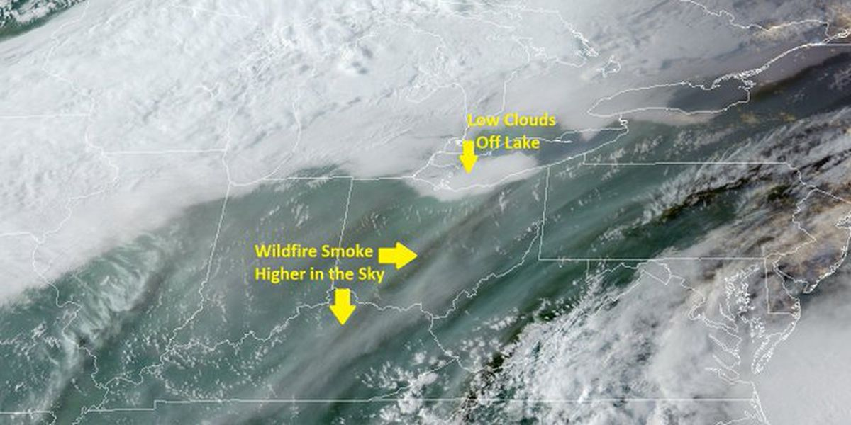 National Weather Service: Smoke from California wildfires spotted in Ohio