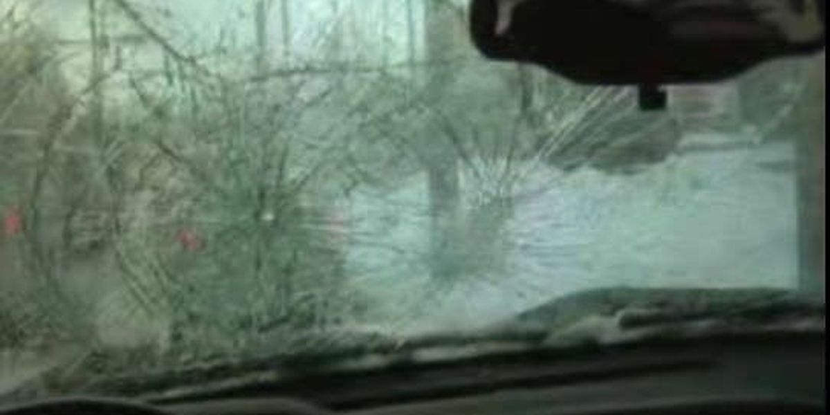 Man's truck damaged by pushed snow and ice