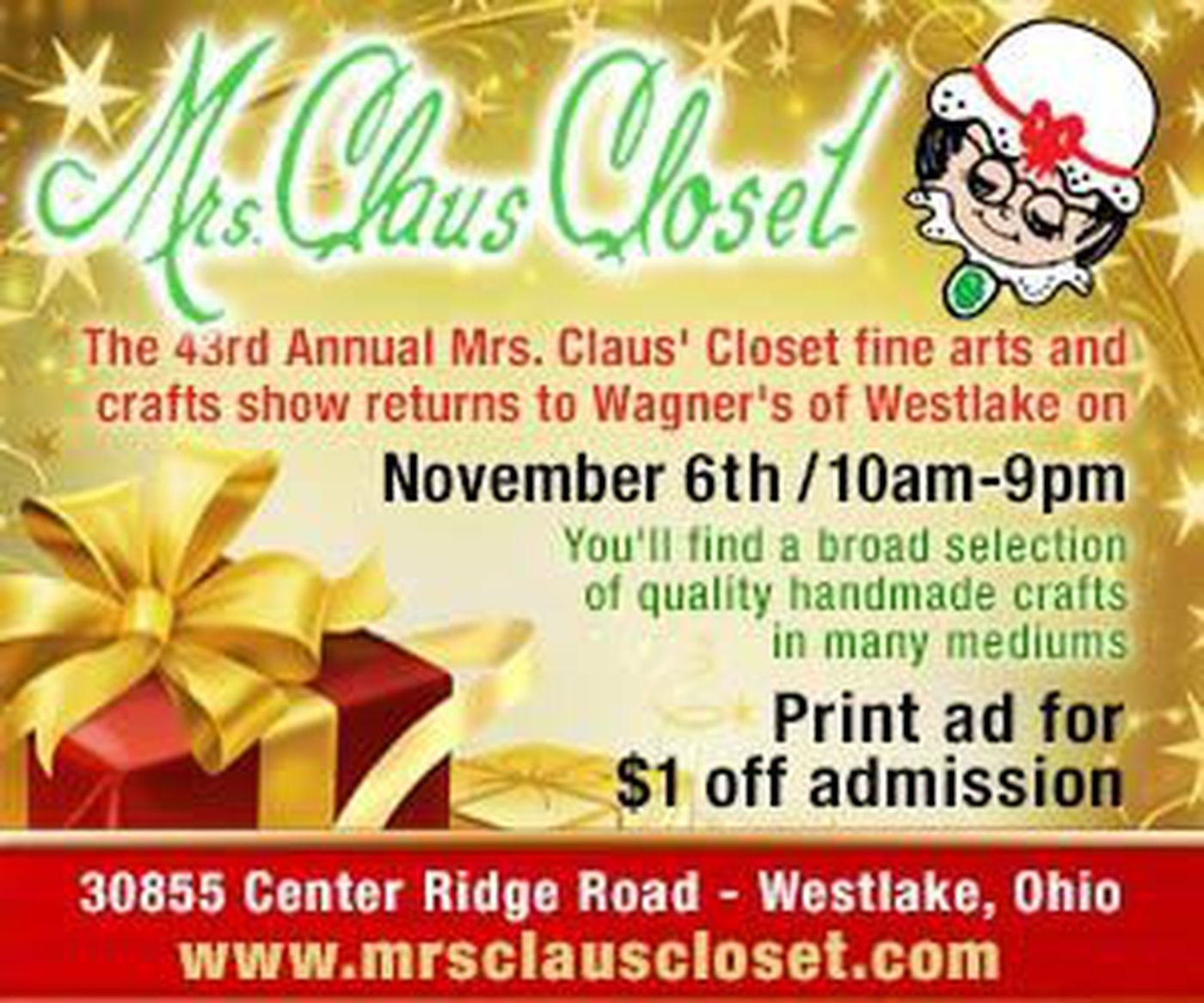 Mrs Claus Closet Fine Arts And Crafts Show
