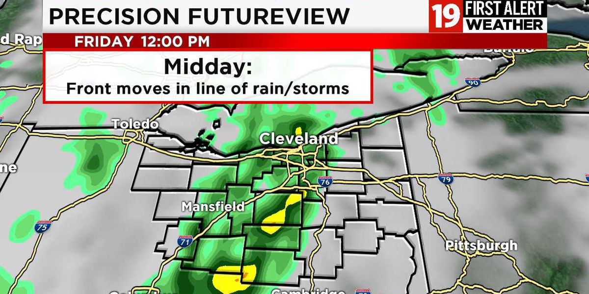 Northeast Ohio Weather: Thunderstorms to end the work week