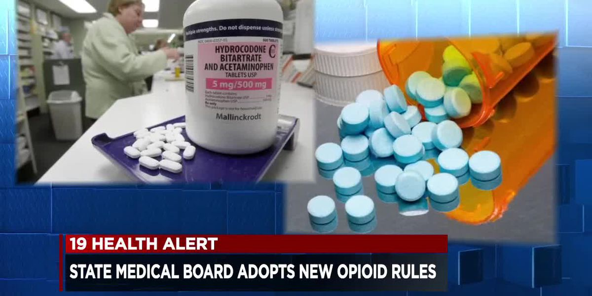 The State Medical Board of Ohio adopts new rules for opioid prescriptions