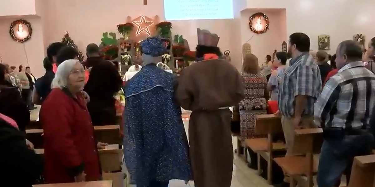 La Sagrada Familia Church celebrates Three Kings Day