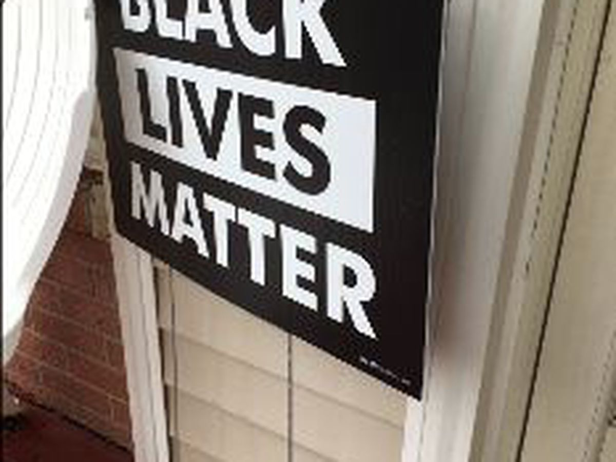 Cleveland family calls police after witnessing man steal 'Black Lives Matter' sign from their front yard
