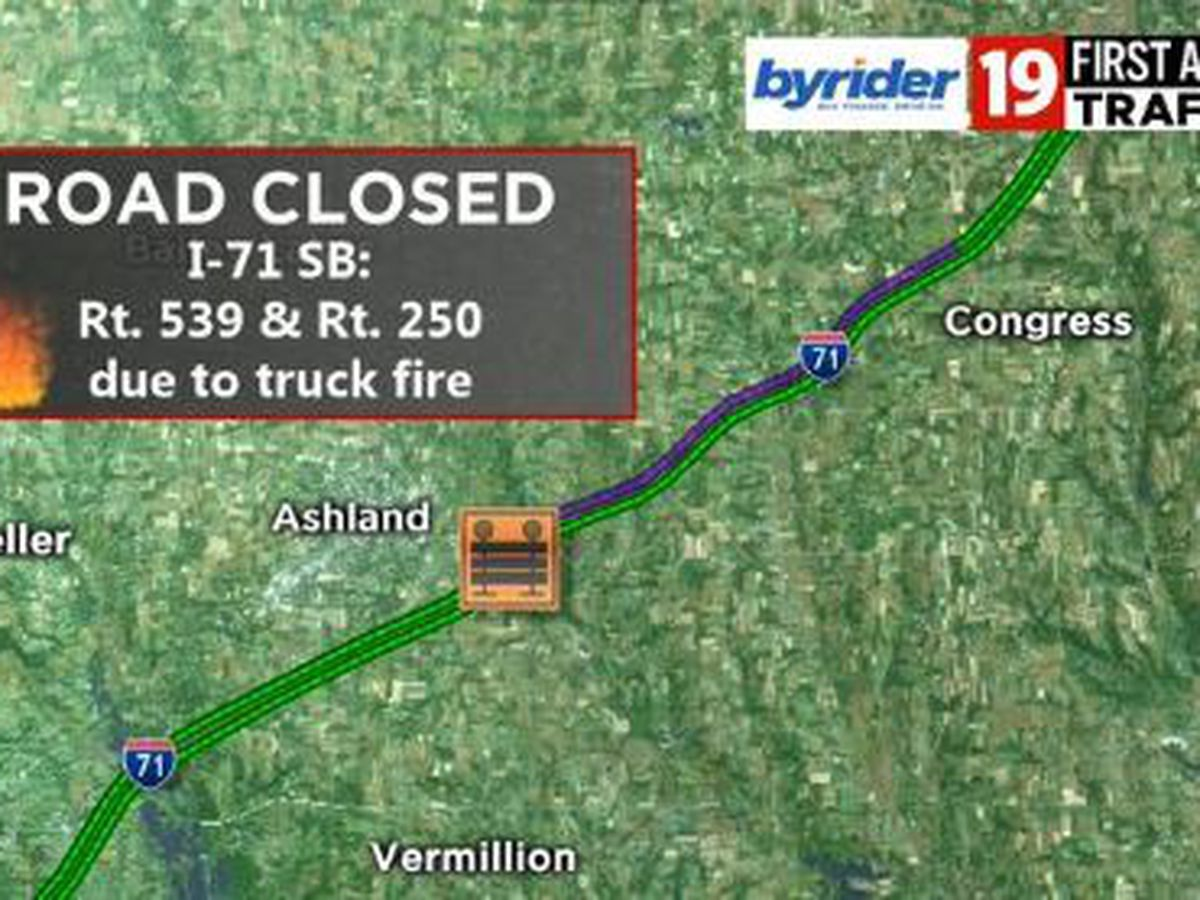 Update: I-71 southbound lanes re-open after an early morning accident and fire