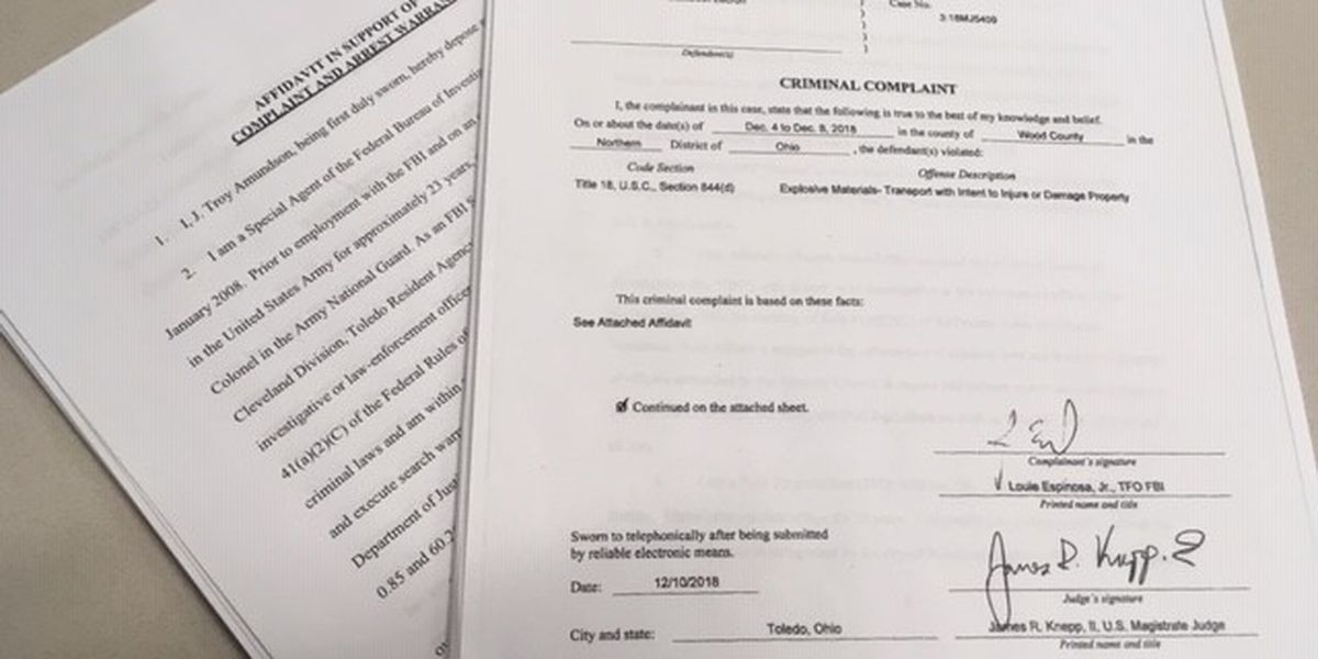 Federal documents reveal shocking details in Toledo domestic terror cases
