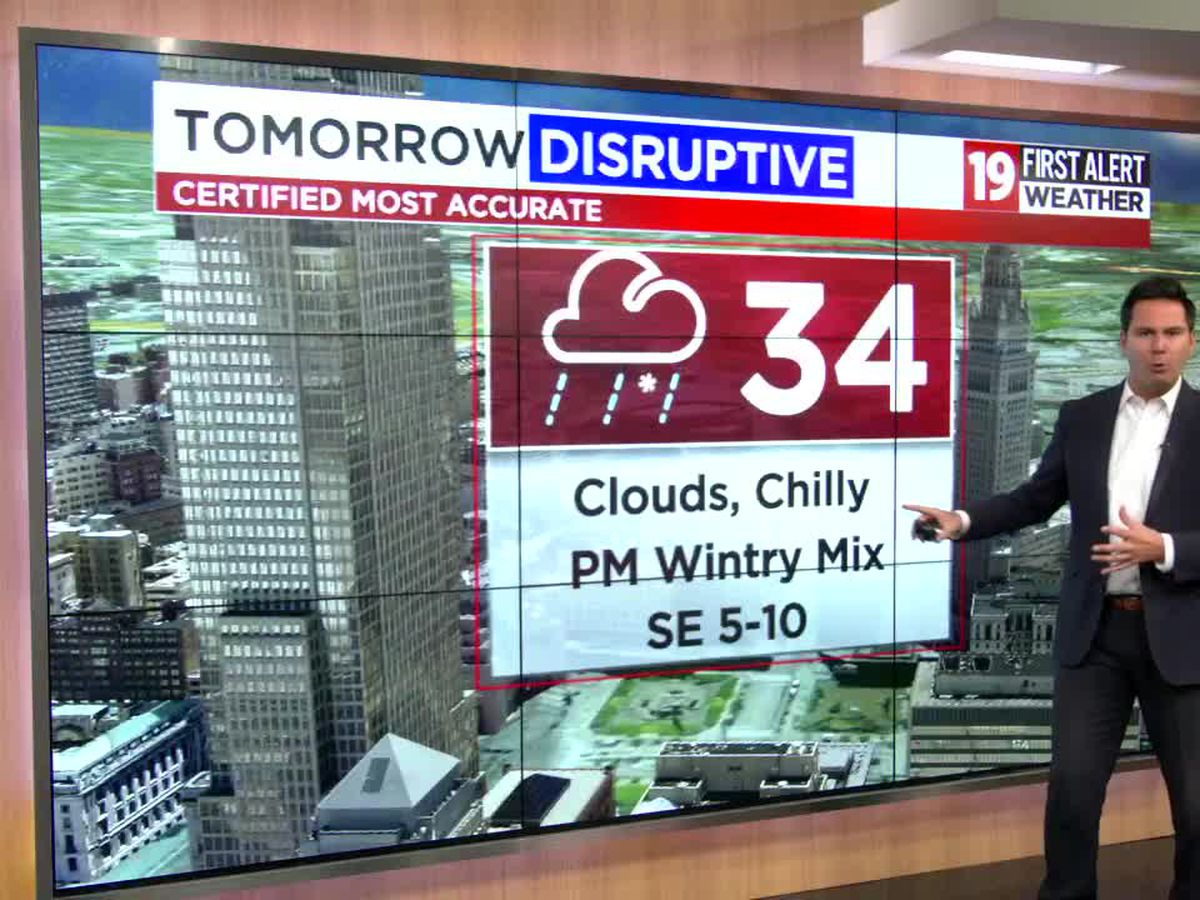 Snow, ice threat: Disruptive Weather Day issued for Monday evening