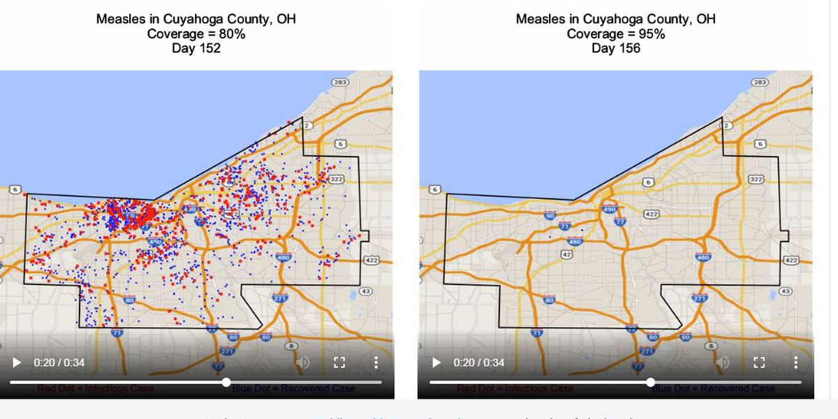Measles simulator shows how quickly an epidemic can hit in Ohio