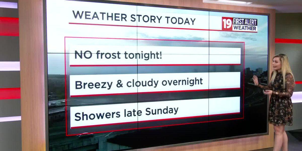 Northeast Ohio Weather: Warmer tonight, rain late Sunday