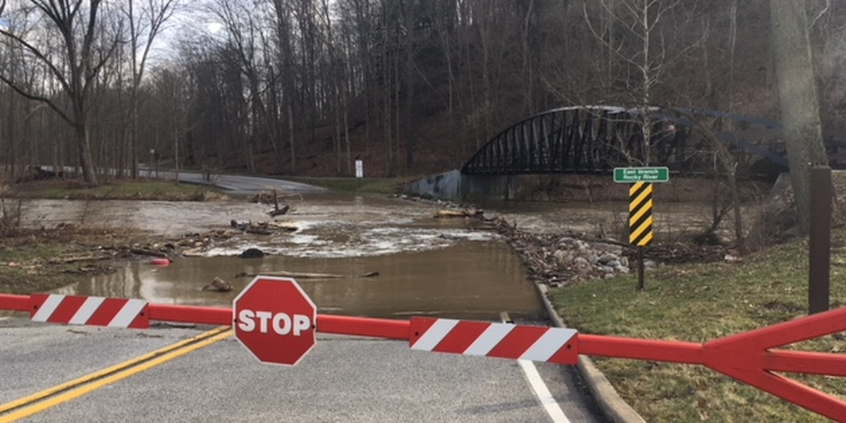 Flooding causes road closure at Metroparks