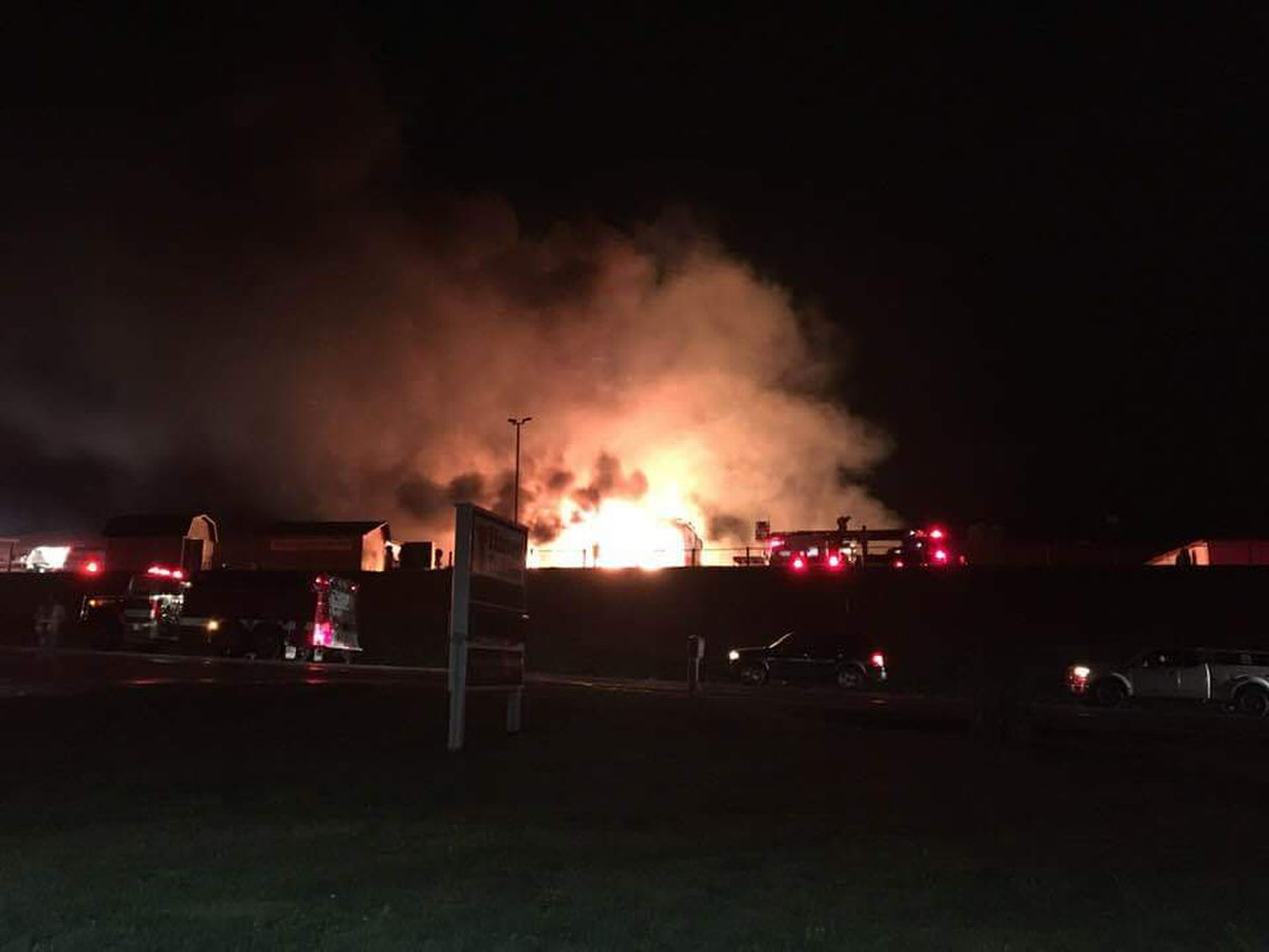 Firefighters battling blaze at Walnut Creek Amish Flea Market
