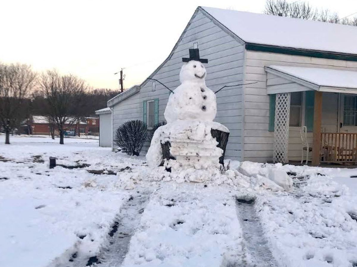 'Instant karma': Front yard Frosty with tree trunk base teaches KY driver a valuable lesson