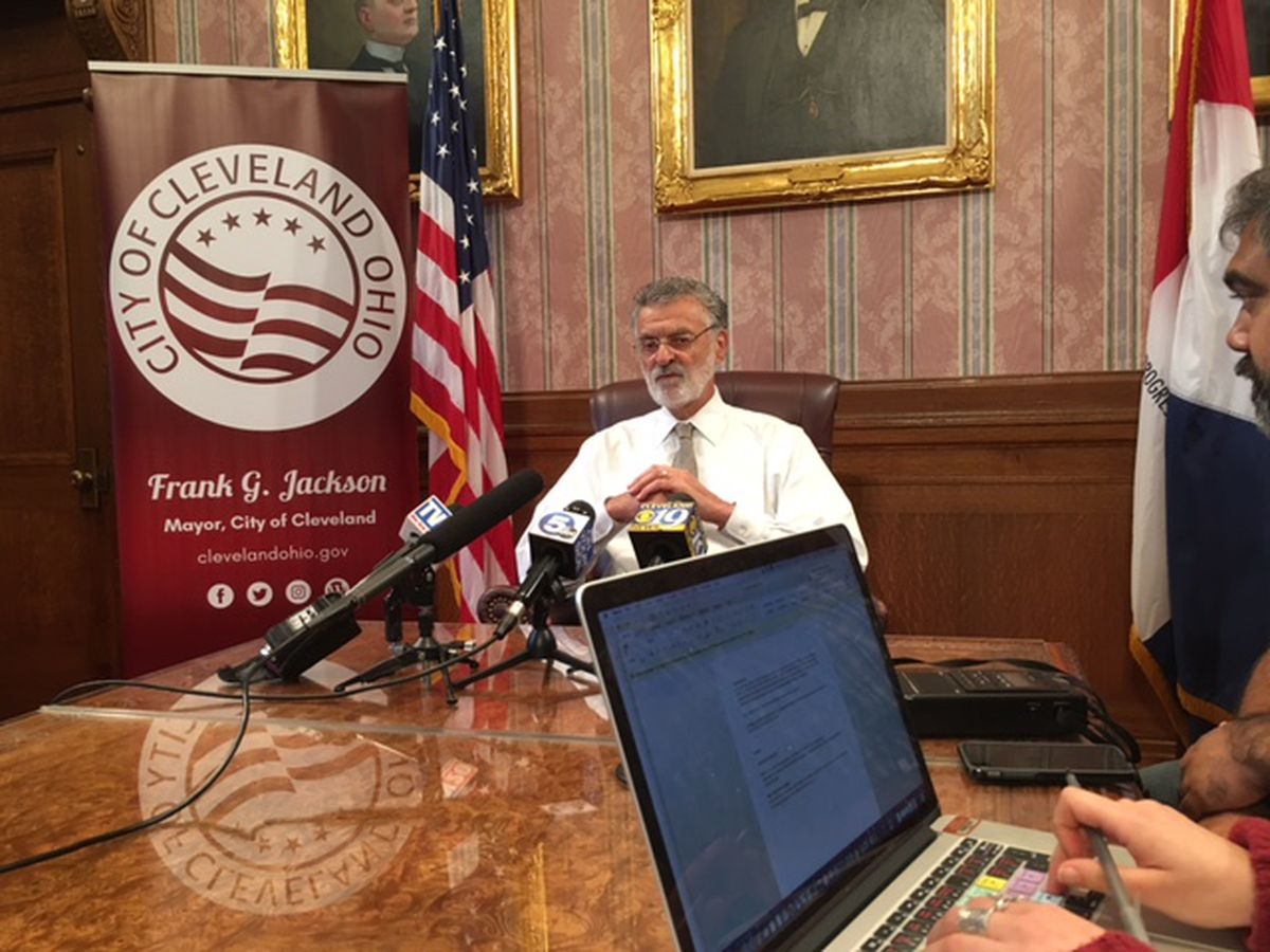 Mayor Frank Jackson signs mandate requiring use of face masks throughout the city due to COVID-19 outbreak
