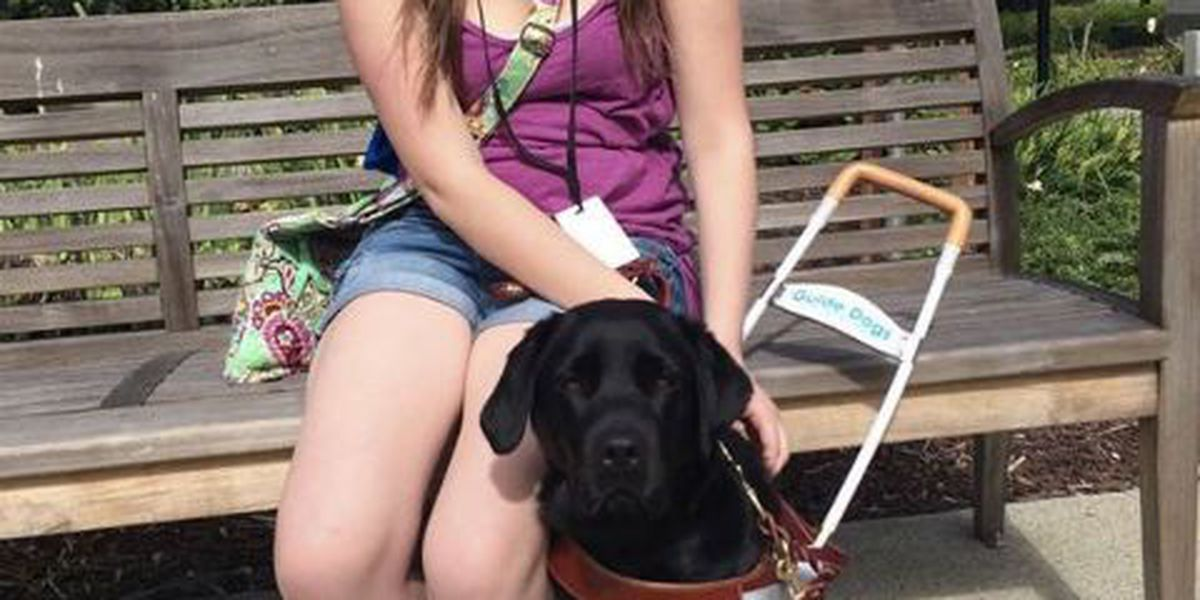 Blind teen asked to leave bakery because of her service dog