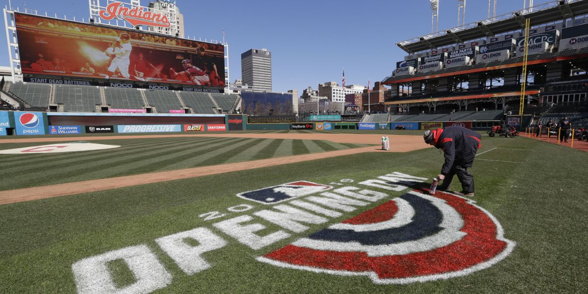 Cleveland Indians win 5-3 during Opening Day game against Chicago White Sox