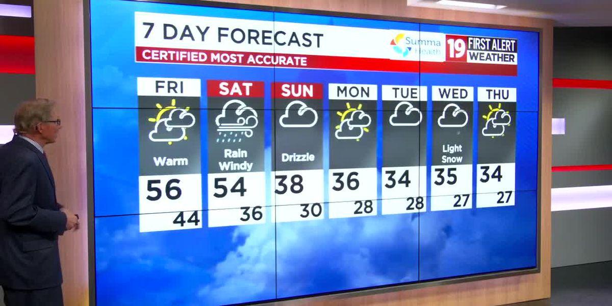 Northeast Ohio weather: Rain returns on Saturday, turning cold by Sunday