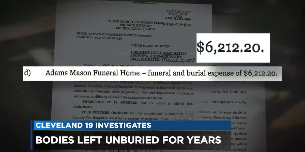 Why are some bodies going unburied for years? Cleveland 19 investigates