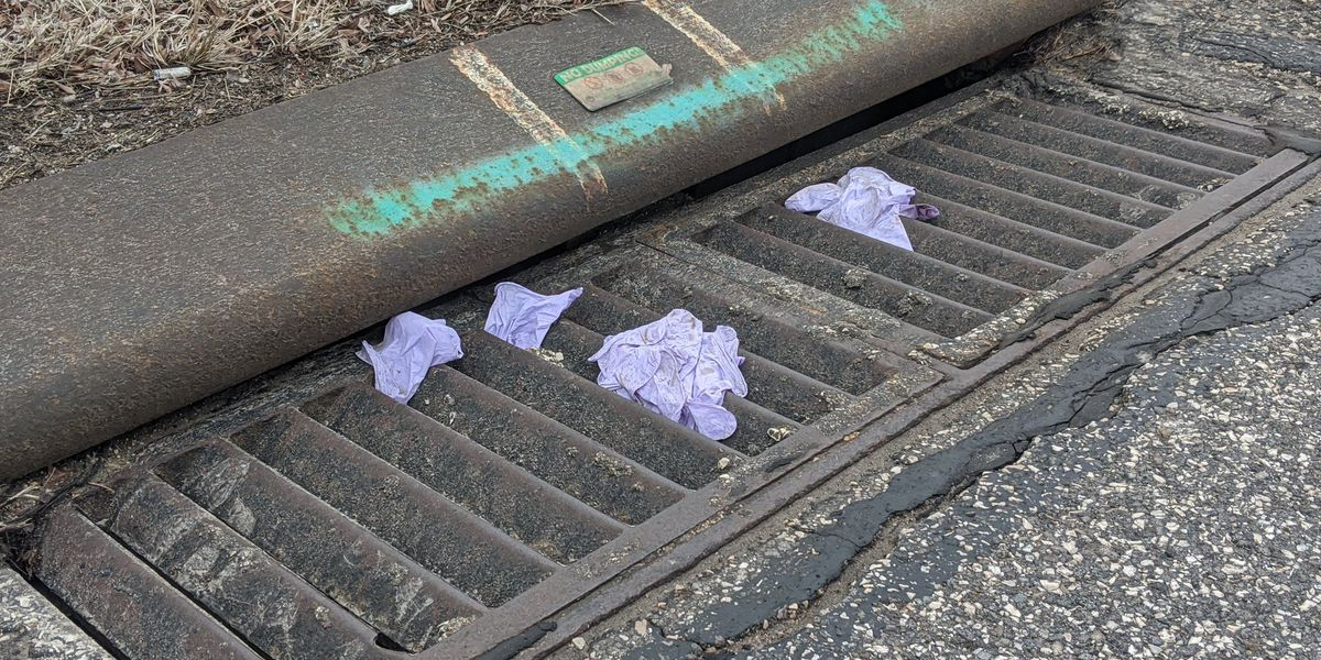 Disposable medical gloves piling up in public places throughout Northeast Ohio amid COVID-19 outbreak