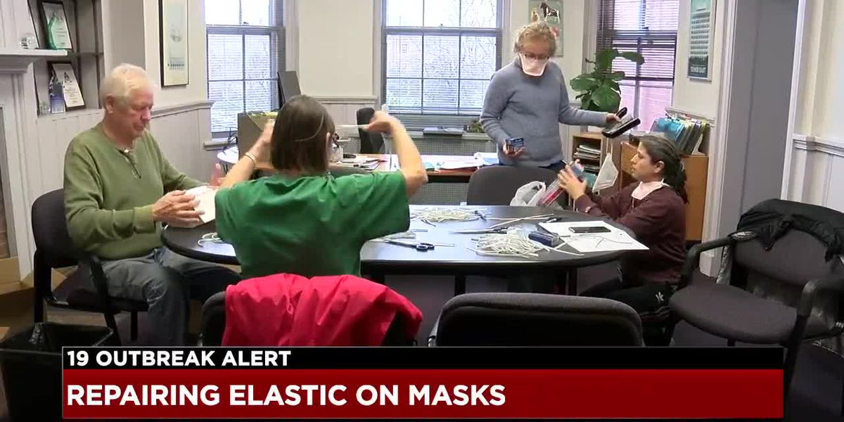 Repairing masks for firefighters amid coronavirus pandemic