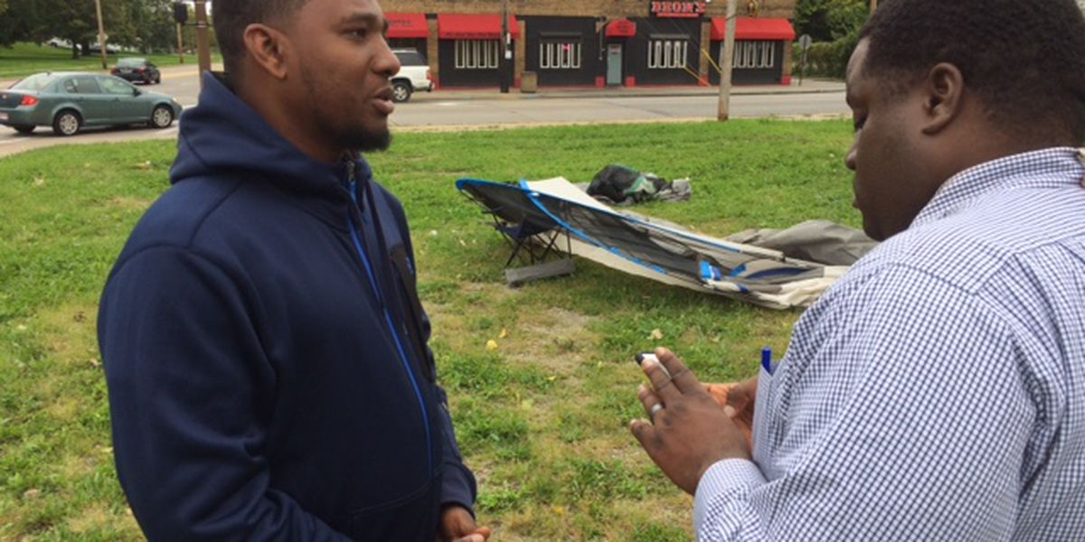 Cleveland Councilman is sleeping outside alone during an around-the-clock vigil