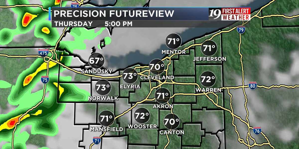 Temperatures above 70 degrees are possible on Thursday