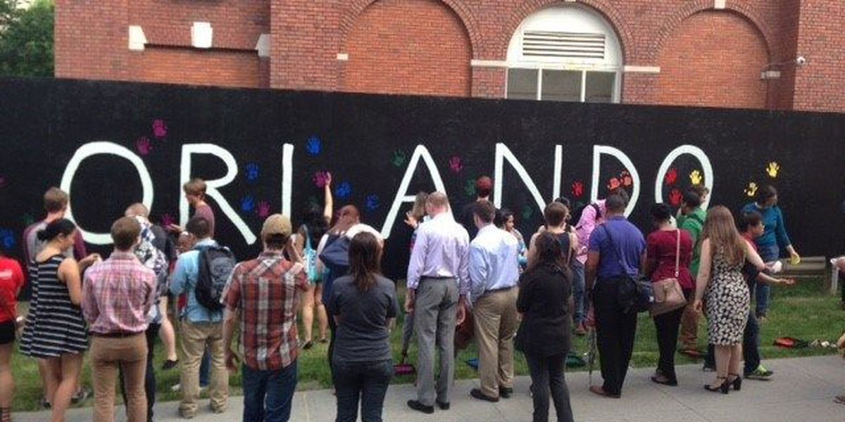Case Western students create mural to remember Orlando victims
