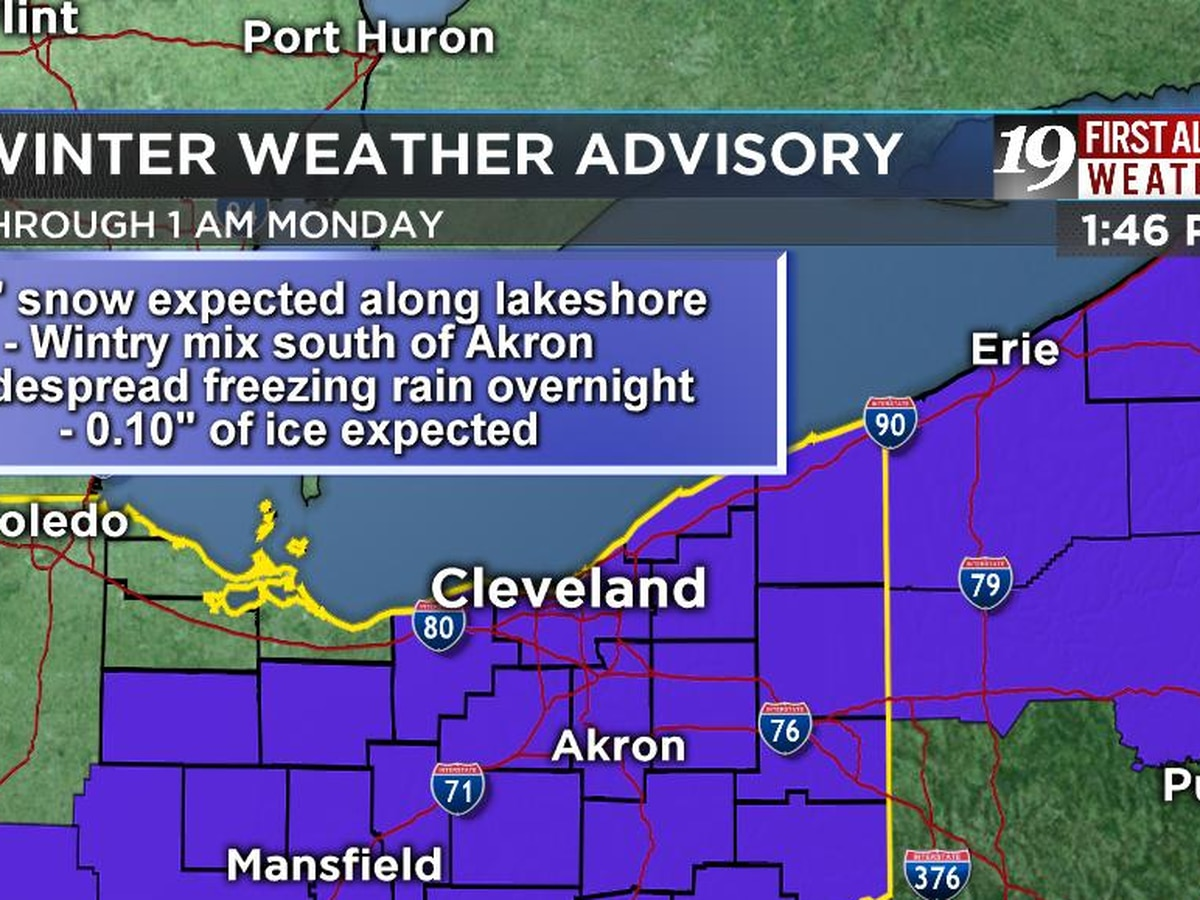 Winter Weather Advisory: System to bring snow and wintry mix tonight