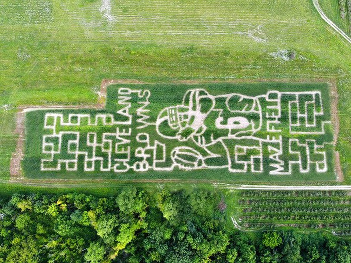 Brunswick farm tributes Cleveland Browns quarterback with Baker Mayfield corn maze