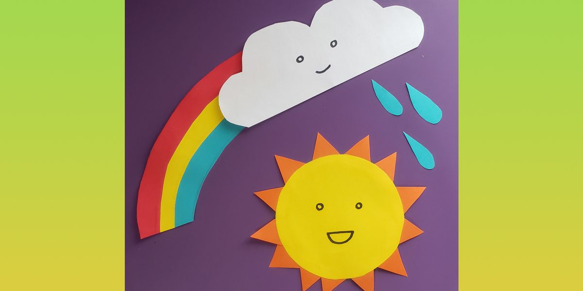 Family craft time! How to make Window Weather Friends