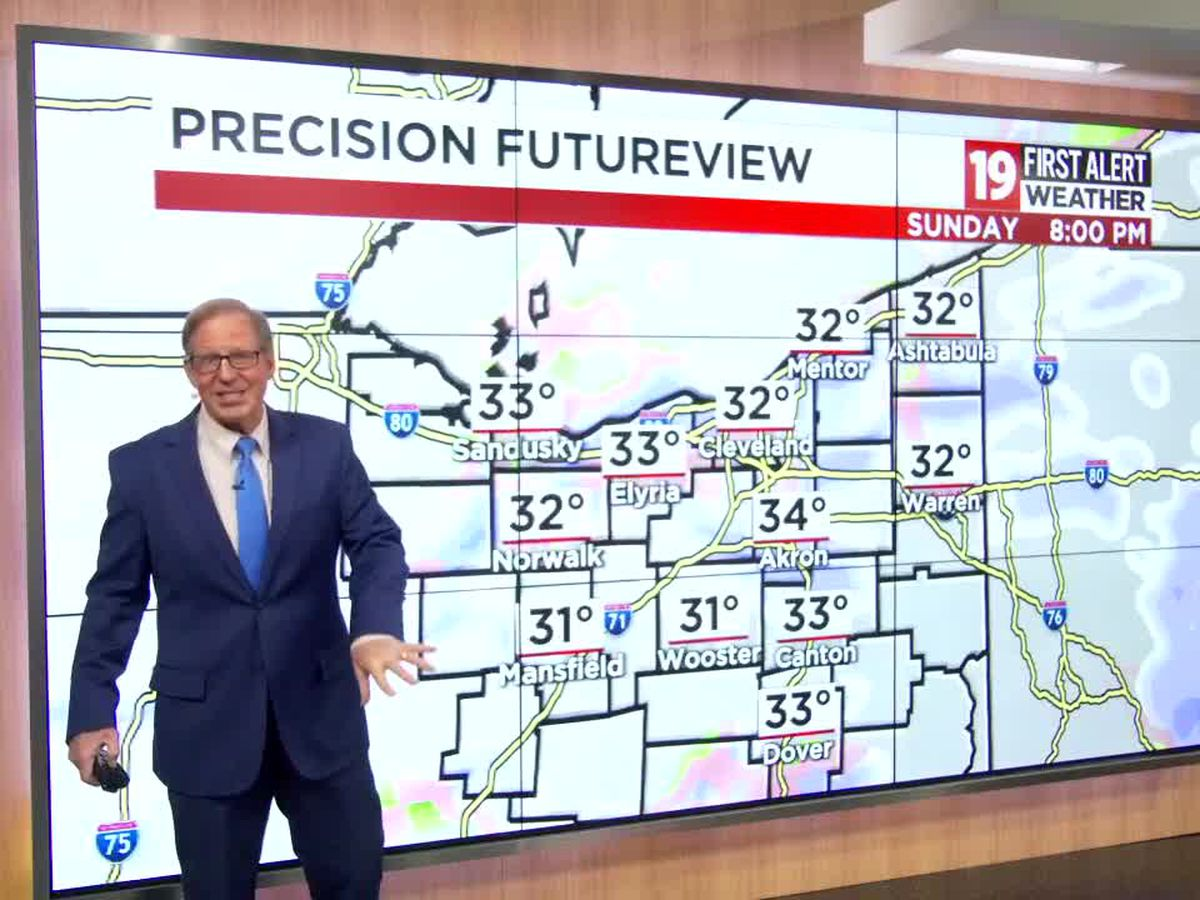 Northeast Ohio weather: Tracking early week flakes