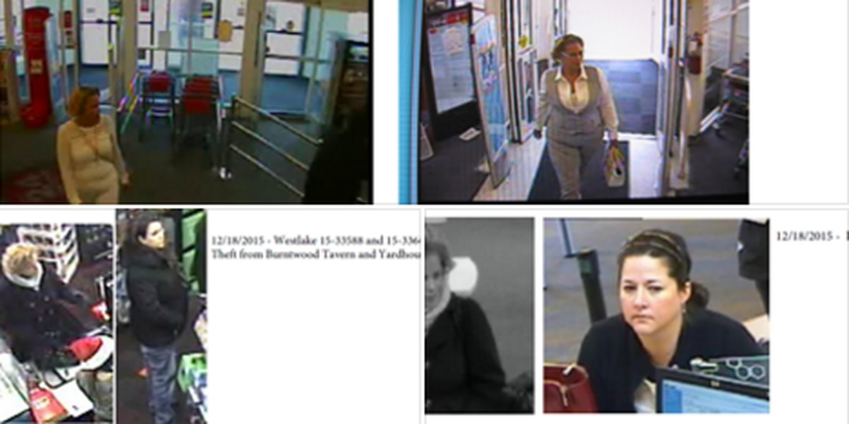 PHOTOS: Women thieves steal wallets, go on shopping sprees