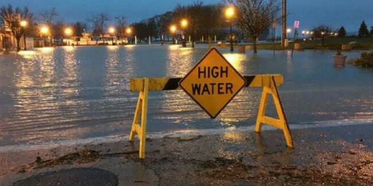 High water causes road closures in Ottawa and Erie County