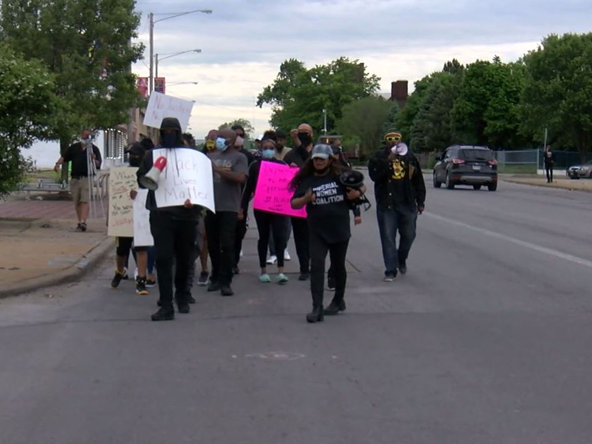 Peaceful protests in East Cleveland pointing out past violence in city and police reform