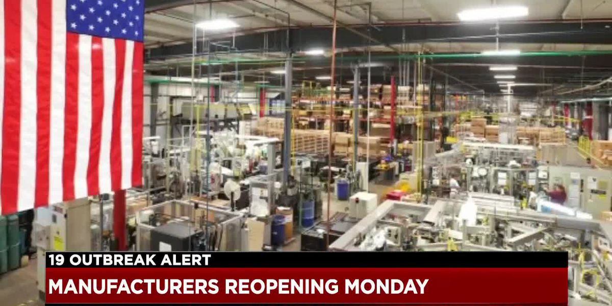 Manufacturers in Ohio are getting ready to get back to work