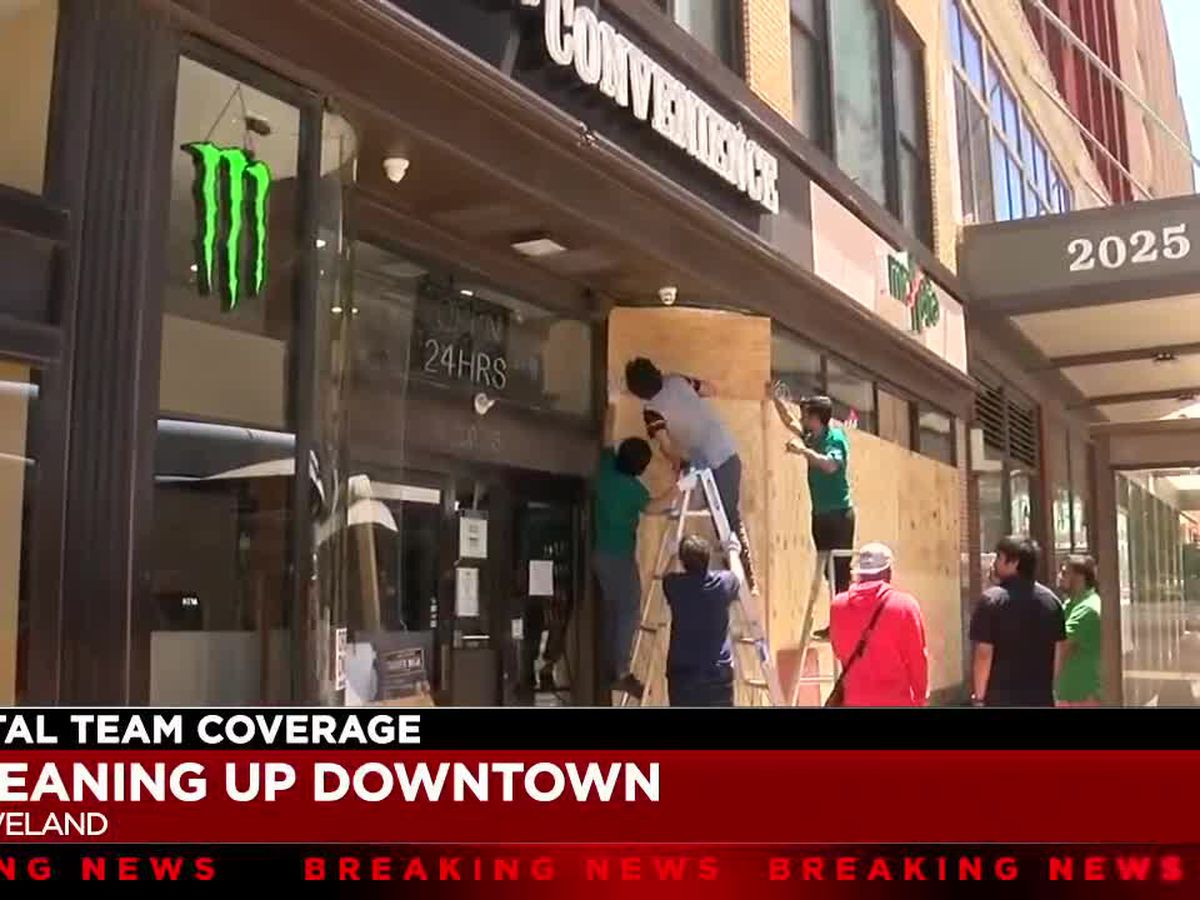 Downtown Cleveland business owners carry on with massive cleanup effort
