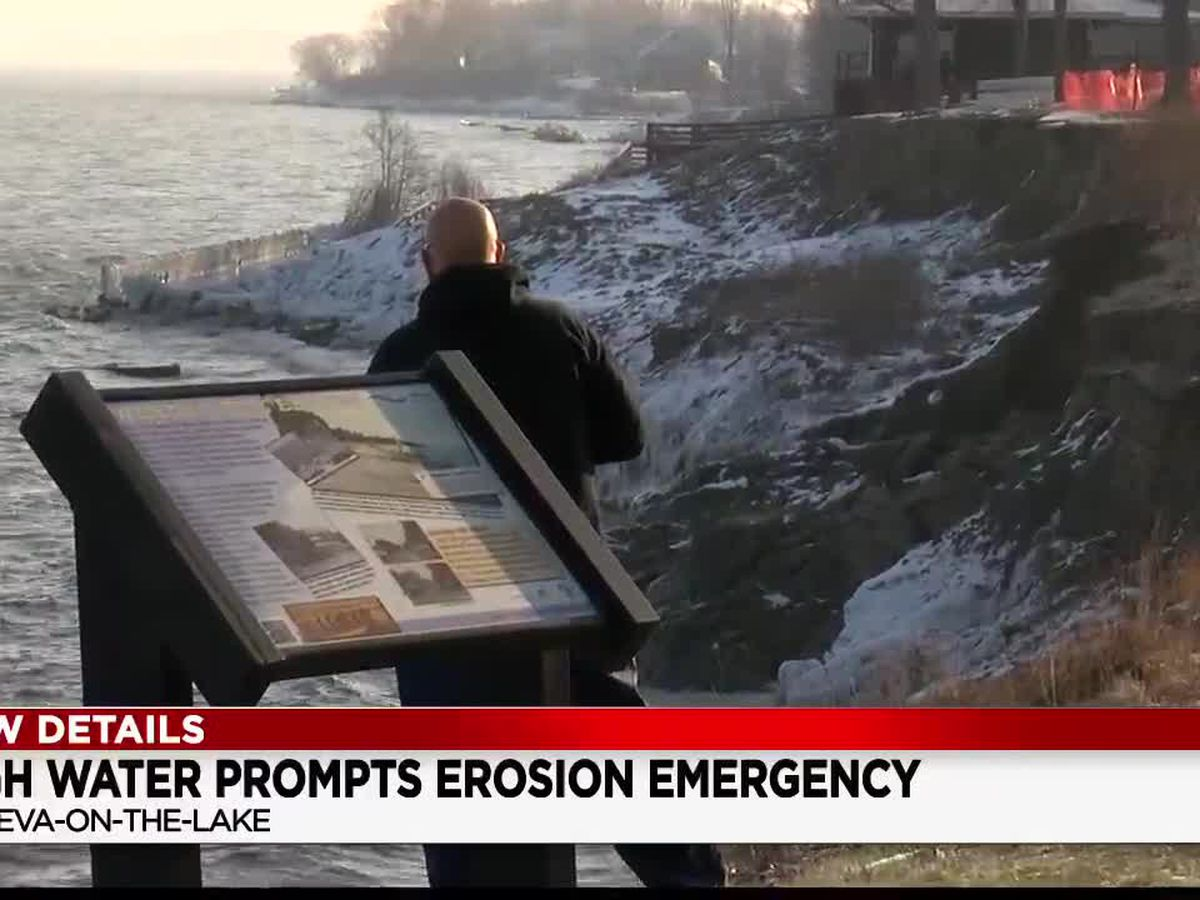 Geneva-on-the-Lake declares erosion emergency as the community battles for its beach