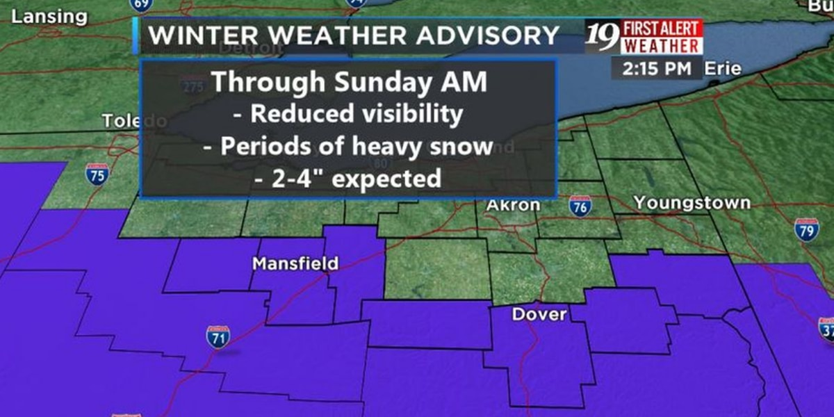 Snow emergency declared for several Ohio counties
