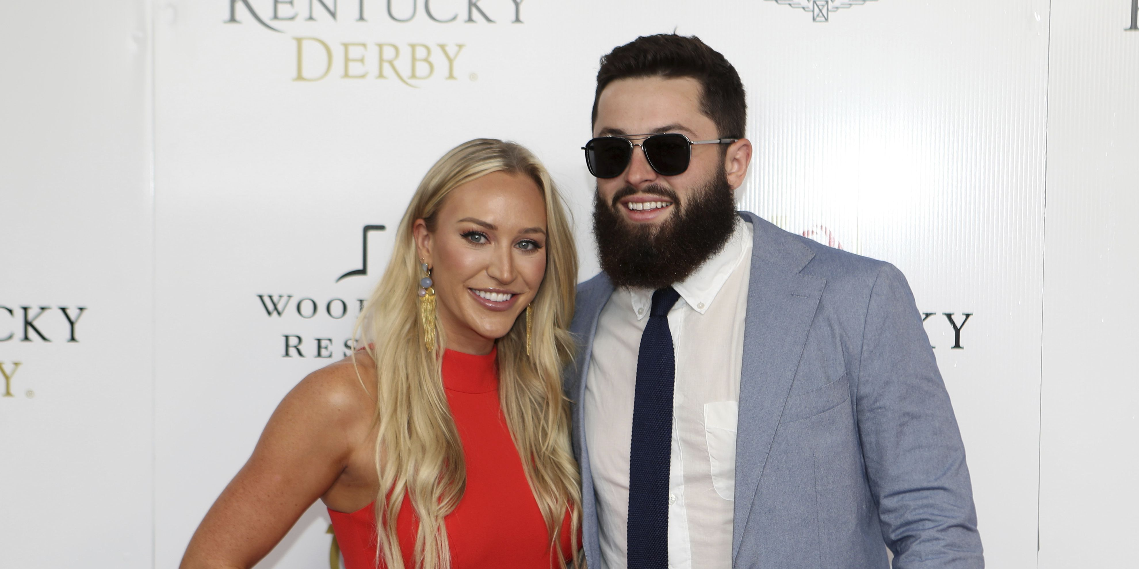 Baker Mayfield shares first video with new wife Emily Wilkinson since getting married in Malibu