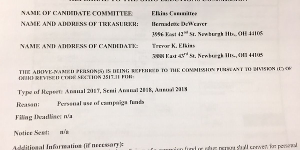 Newburgh Heights mayor admits that mistakes were made in campaign finance reports